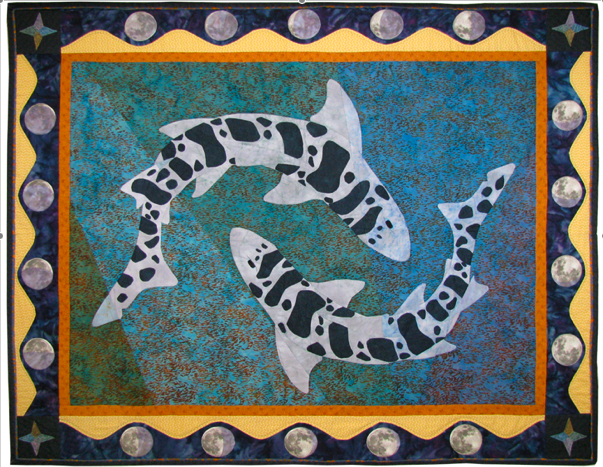 Lunar Influence, by the Moss Landing Marine Labs Quilt Guild