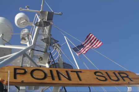 The majestic R/V Point Sur